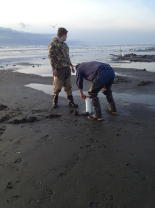 David and Josh Clamming