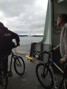 Getting off ferry