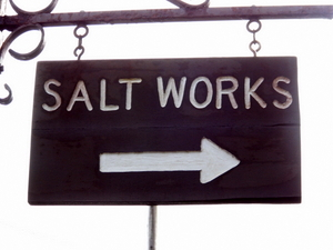 Salt Works Sign
