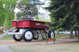 Giant Radio Flyer, Riverfront Park, Spokane, Washington