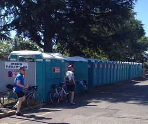 My friend and fellow Centralia College employee, Brenda, was in charge of making sure the Port-a-Potties stay clean and emptied. An important job with so many!
