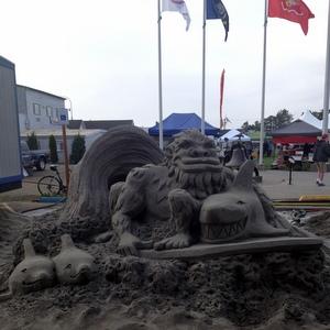 Sand Sculpture at SandSations, Long Beach, WA