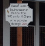 Razon Clam Sign, Long Beach, WA