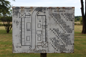 Fort Henness Map, Rochester, Grand Mound, Washington