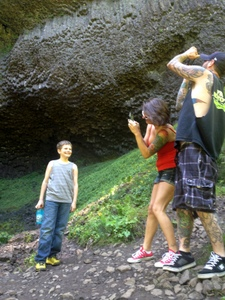 Let's all take pictures! (Anden, Brandy, & Jason) Latourell Falls