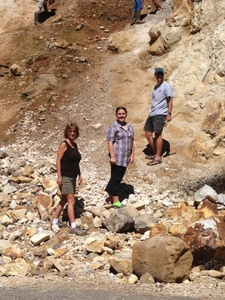 Nancy, Jessica & Jerry at Pyrite Seam