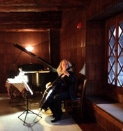 Beautiful music! Old Faithful Inn, Yellowstone National Park