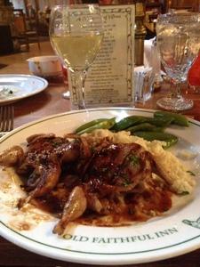 Mmmm - dinner! Old Faithful Inn, Yellowstone National Park