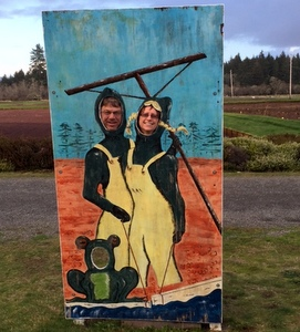 David & Nancy at the Cranberry Museum, Long Beach, Washington