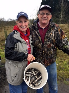 Pat and Dick Lindeman, Cowlitz River, Kelso, Washington