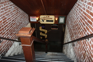 Heading downstairs, Kells Irish Pub, Portland, Oregon