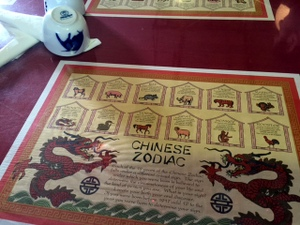 Chinese calendar, Shanghai Cafe, Centralia, Washington