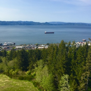 View to the north - Columbia River, from the Astoria Column, Astoria, Oregon