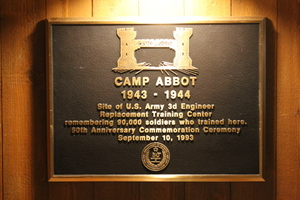 Plaque, Great Hall, Sunriver, Oregon