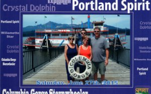 Sue, Josh, Nancy, David. Columbia Gorge Sternwheeler