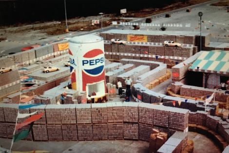 Pepsi Challenge Race Track with Giant Inflatable can